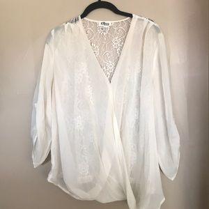 Gorgeous lace back blouse
